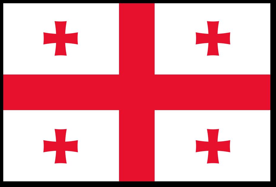 Znalezione obrazy dla zapytania gruzja flaga
